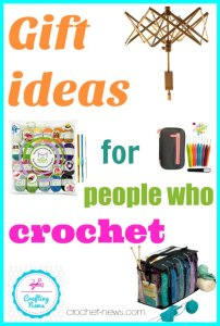 The perfect gifts ideas for people who crochet or even knit. Or for anyone who might be interested in starting. Great tools, fun kits and more.