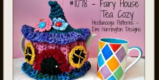 Tea pot cosy fairy house crochet pattern