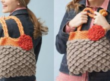 Free crochet pattern, video tutorial for this cute Mermaid Tears purse made with the crocodile stitch