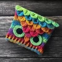 owl hat crocodile stitch crochet