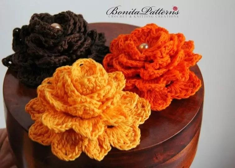 flower crocodile stitch crochet