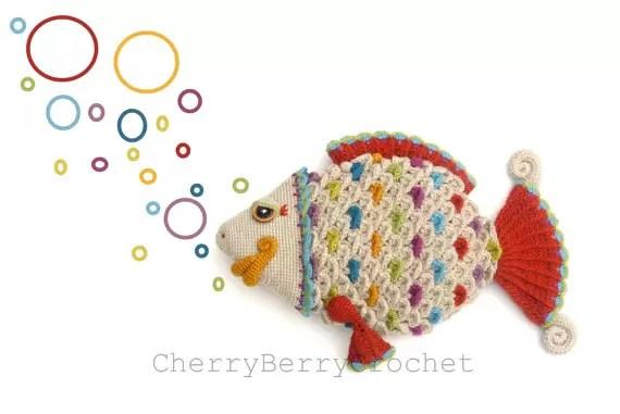 fish crocodile stitch crochet