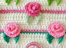 crochet flowers - Crochet Rose Pattern