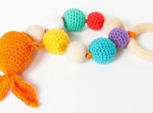 Crochet Baby Teether Bubbles and Goldfish Pattern