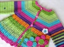 crochet flower cardigan pattern