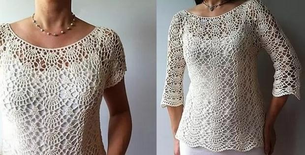 crochet top pattern lacy shell