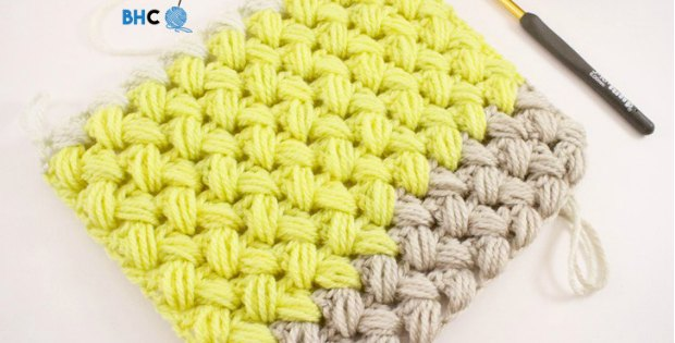 puff stitch crochet zig zag pattern