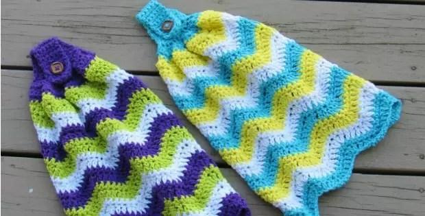 crochet tea towel