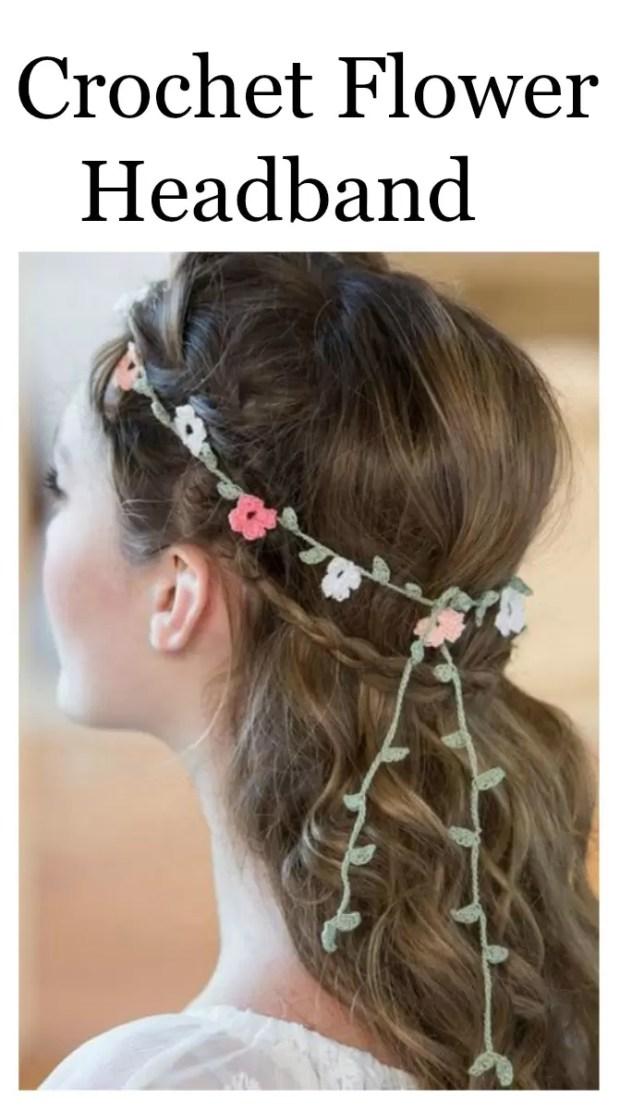 Crochet Flower Headband - Free Written Pattern