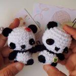 Panda llavero amigurumi