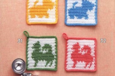 Agarradera Animalitos en Crochet