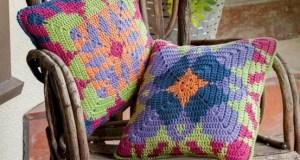 Almohadón Crochet Tapestry