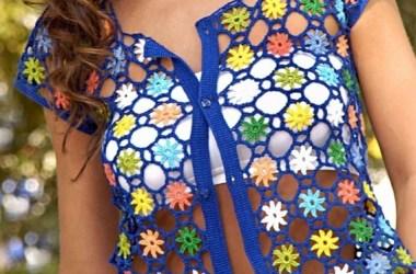 Esquema Bolero Crochet Fácil