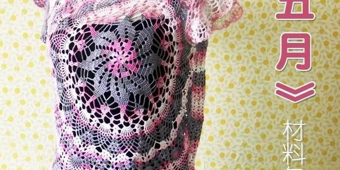 Polera de Piñas Crochet Patrón