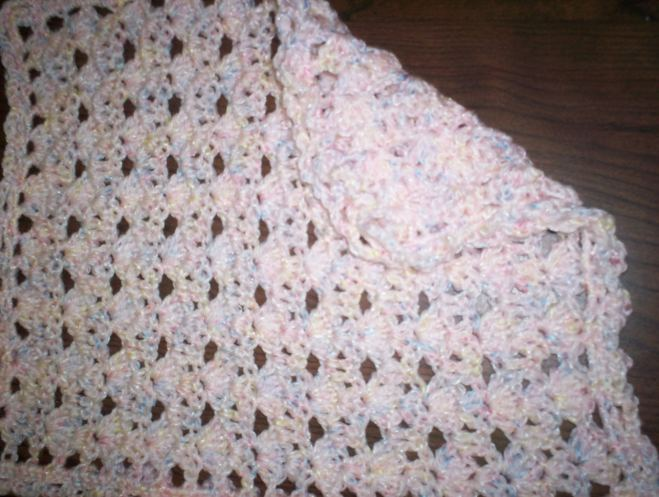 Stacked Shells Doll Blanket Crochet