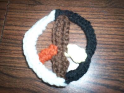 MLK peace sign crochet, crocheted Dr. King Peace Sign 2008