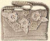 drops vintage flowered crochet purse pattern