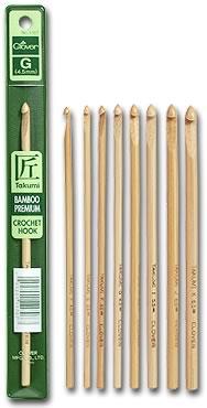 clover bamboo crochet hooks