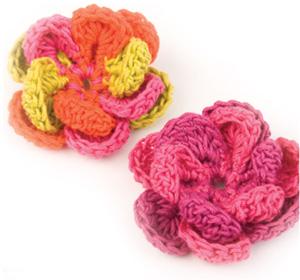 crochet free pattern flower adorn magazine