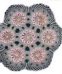 vintage look beaded doily, crochet, craftbits