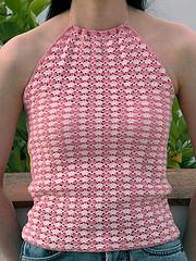 crochet pink halter on flikr