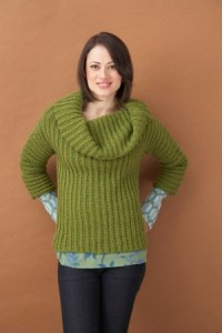 Lion Brand Cowl Neck Sweater