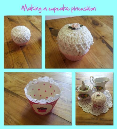 Cupcake Pin Cushion Crochet