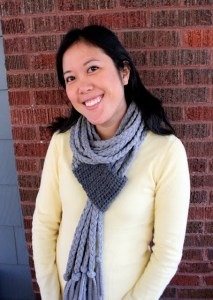 crochet and braided tshirt scarf