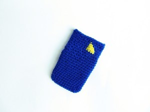 crocheted card holder