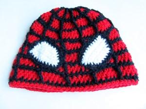 crochet spiderman cap