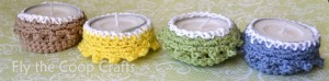 crochet tea light cozy