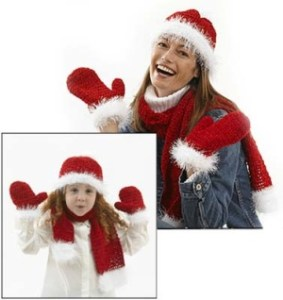 crochet santa scarf and hat free pattern