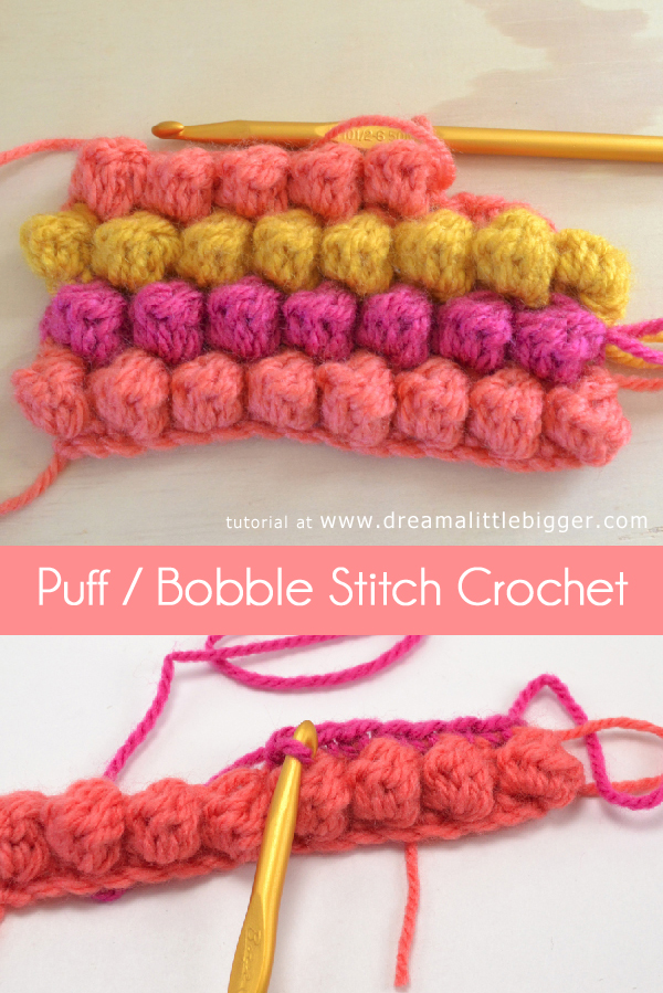 Knitting 3 Stitch Bobble : How To   Bobble Stitch   Crochet