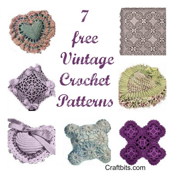 Free Pattern Vintage Crochet : Free Pattern ? 7 Vintage Crochet Patterns ? Crochet