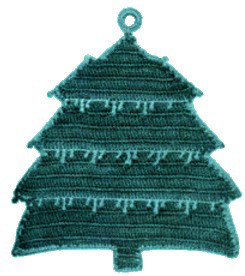 free pattern crochet christmas tree pot holder crochet
