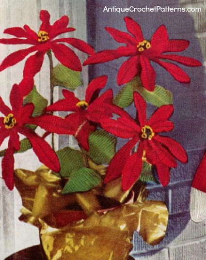 8 Poinsettia Flower Patterns Crochet