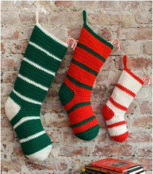 Simple-Striped-Santa-Stockings