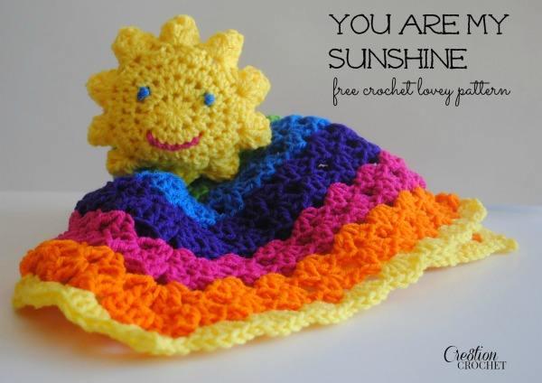 You-Are-My-Sushine-free-crochet-lovey-pattern-cre8tioncrochet-freecrochetpattern