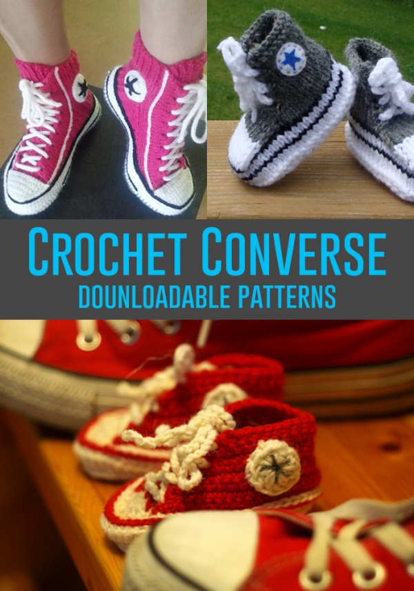 0016863fa95a DIY Converse Shoes – Crochet
