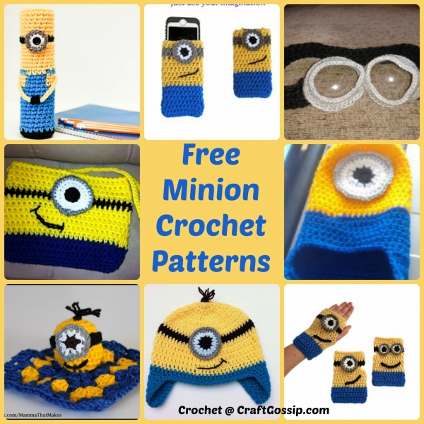 Minion Free Crochet Pattern Collection All The Best Ideas | Minion ... | 600x600