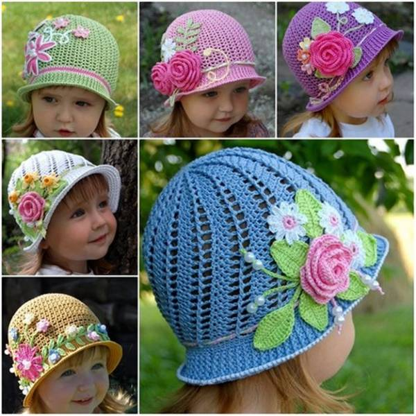 Free Pattern Girls Panama Sun Hat Crochet