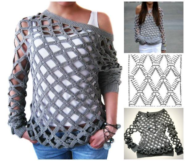 08fb3f8cc195d Crochet Net Tunic Pattern – Crochet