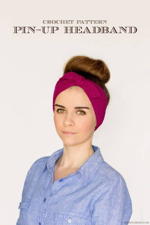 Retro Pin-Up Headband Crochet Pattern