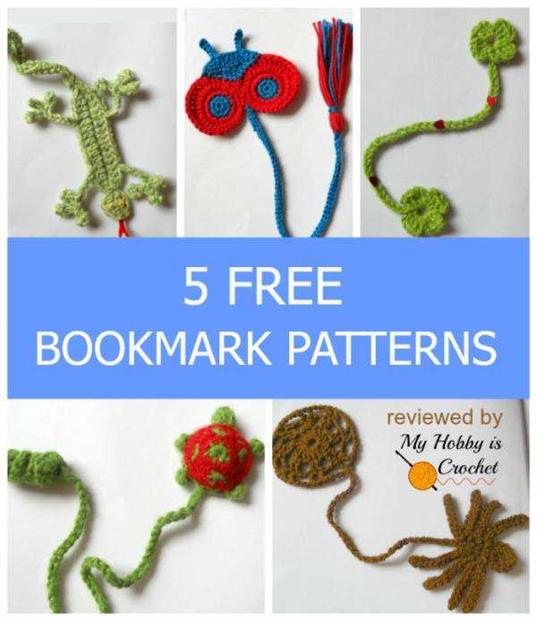5 free bookmark crochet patterns