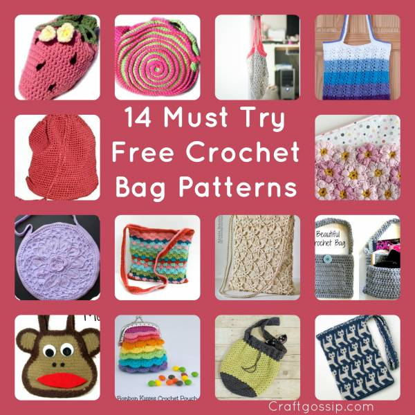 14 Free Crochet Bag Patterns Not To Be Missed Crochet