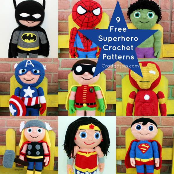 Musings of an Average Mom: Free Superhero Crochet Patterns | 600x600