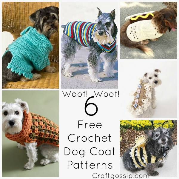 Free Crochet Patterns For Dog Blankets : 6 Great Dog Coats Patterns To Keep Your Doggie Warm ? Crochet