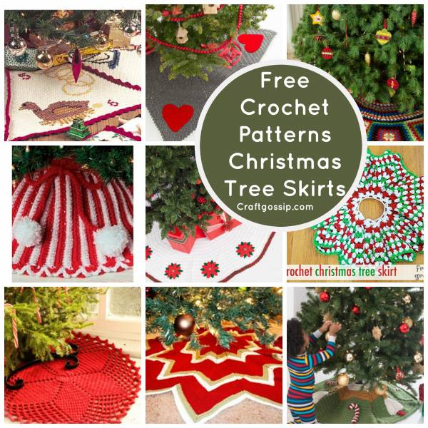 free christmas crochet decoration christmas tree skirt - Christmas Tree Skirt Pattern