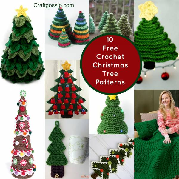 40 Christmas Craft Ideas To Try This Year: 10 Christmas Tree Crochet Projects You Have To Try
