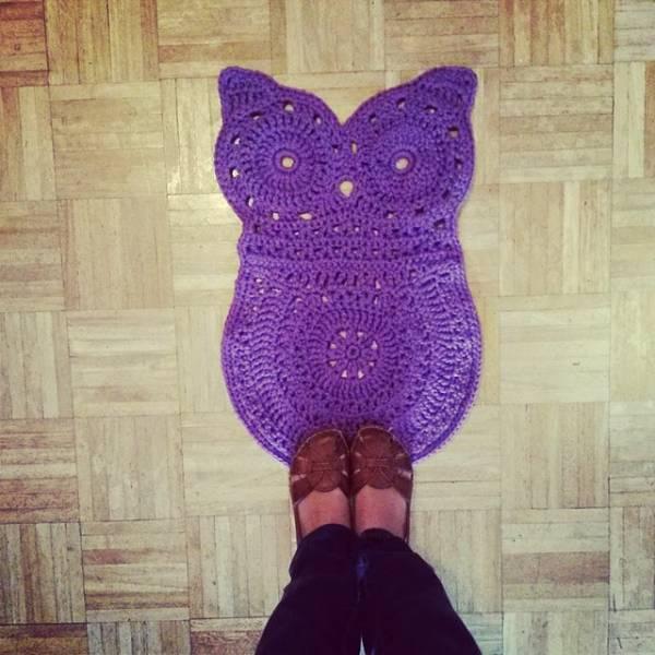 Crochet Owl Rug Pattern: The Kids Will Adore It